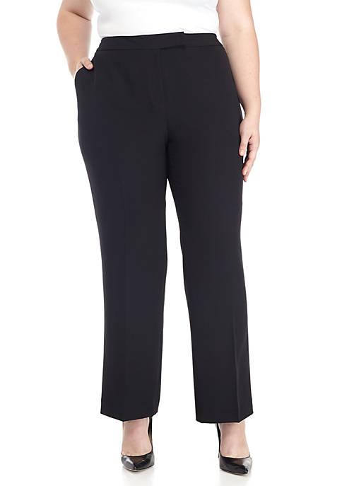 Plus Size Crepe Slim Pants