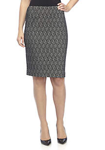 Jacquard Knit Slim Skirt