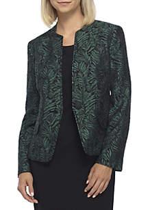 Petite 1-Button Jacquard Jacket