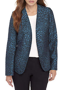 Metallic Jacquard Animal Print Jacket