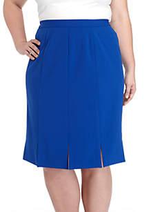 Plus Size Crepe Carwash Skirt