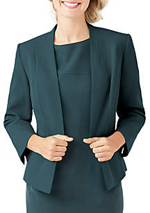 Flyaway Stretch Crepe Jacket