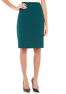 Slim Ponte Skirt