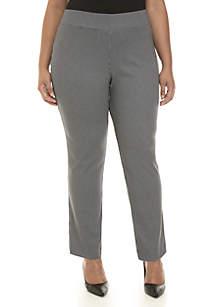 Kasper Plus Size Mini Houndstooth Pants