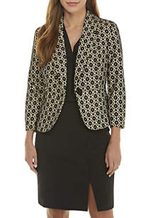 Bonded Lace One Button Jacket