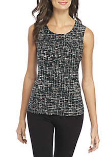 Linear Graphic Print Top