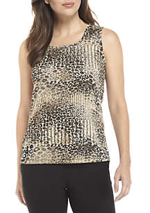 Leopard Printed Knit Cami