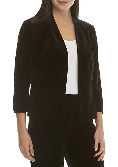 Black Velvet Flyaway Jacket