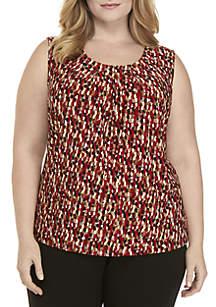Plus Size Speckle Print Cami