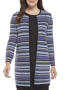Linear Jacquard Sweater Topper