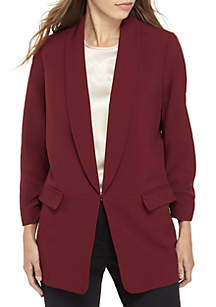 Long Shawl Collar Blazer