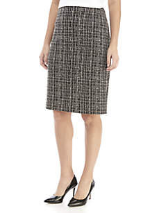 Knit Jacquard Skirt