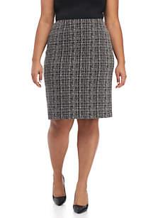 Plus Size Knit jacquard Skirt
