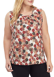 Plus Size Twisted Neck Cami