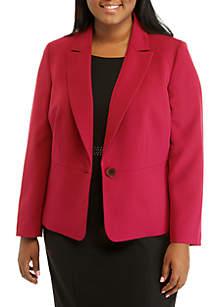 Plus Size Crepe Jacket