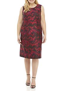 Plus Size Sleeveless Sheath Dress
