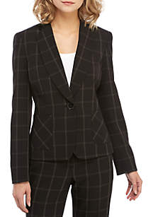 1 Button Windowpane Jacket