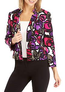 Floral Flyaway Jacket