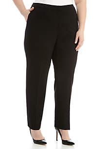 Plus Size Elastic Waist Crepe Pants