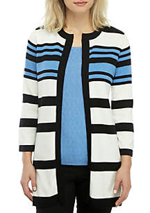 Kasper Multi Stripe Cardigan
