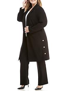 Plus Size Notch Collar Jacket