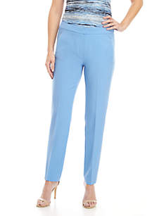 Solid Crepe Ankle Pants