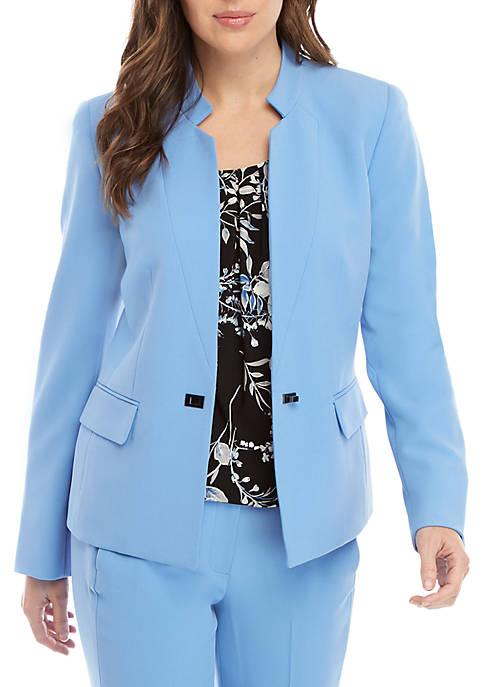 Hardware Closure Crepe Jacket