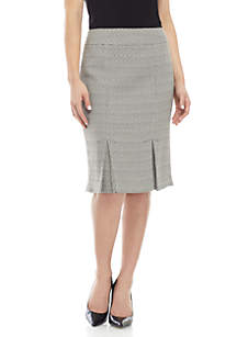 Kasper Tweed Pleat Skirt
