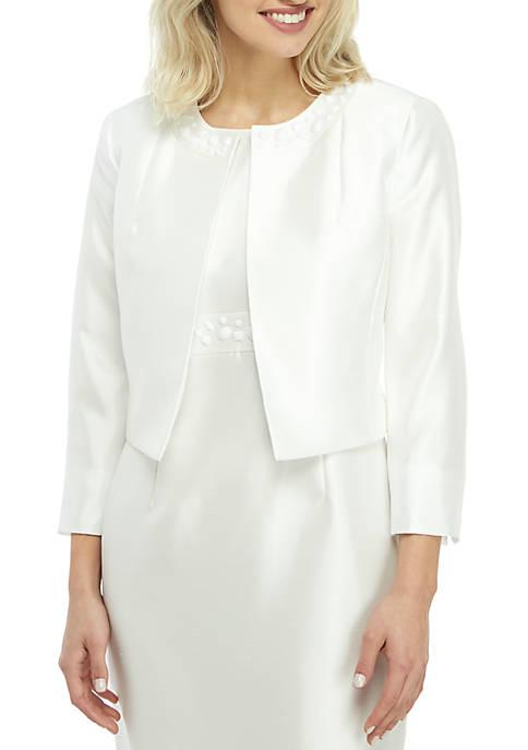 Kasper Embellished Shantung Jacket