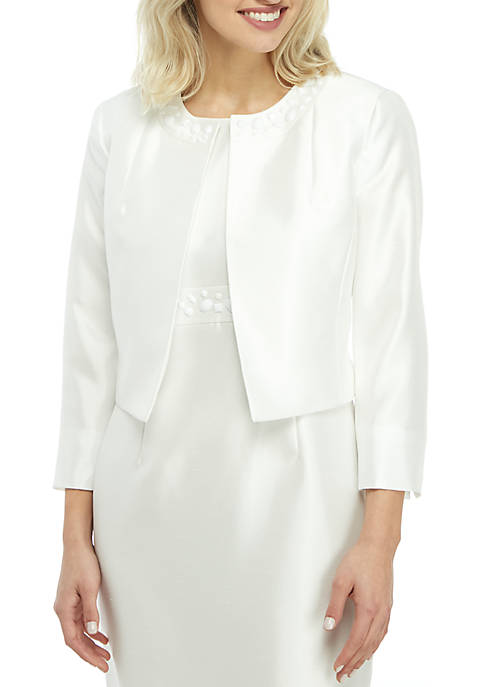 Kasper Petite Embellished Shantung Jacket