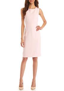 fb984a534ae4e Kasper Sleeveless Embellished Shantung Dress · Kasper Crepe Sheath Dress
