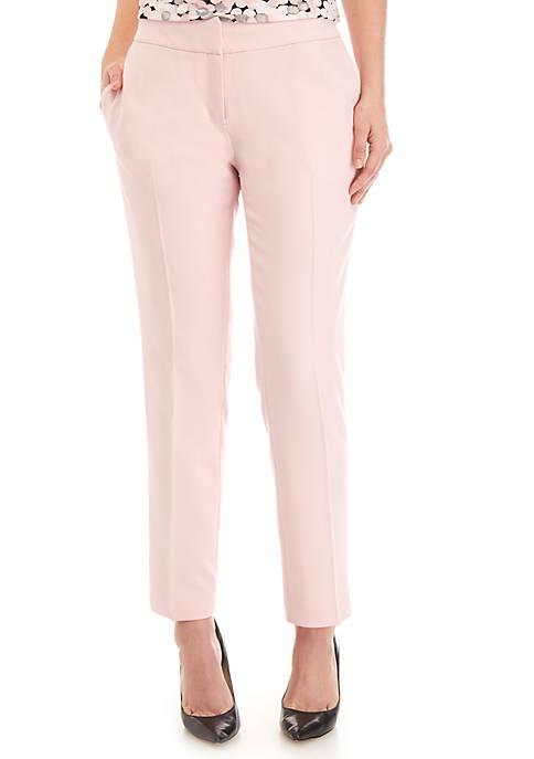 Petite Crepe Slim Pants