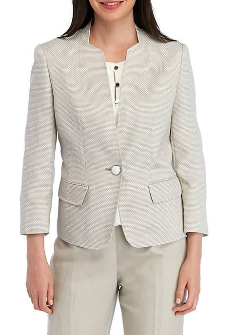 Kasper One Button Birdseye Jacket