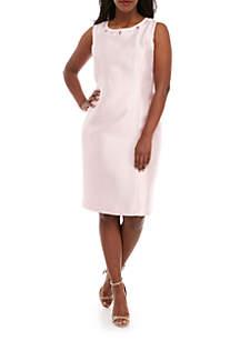 fea1c9b7b3c ... Kasper Plus Size Shantung Embellished Dress