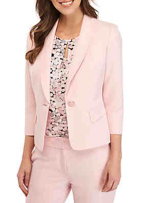 168e80851a817 Kasper Petite 1 Button Shawl Collar Jacket ...