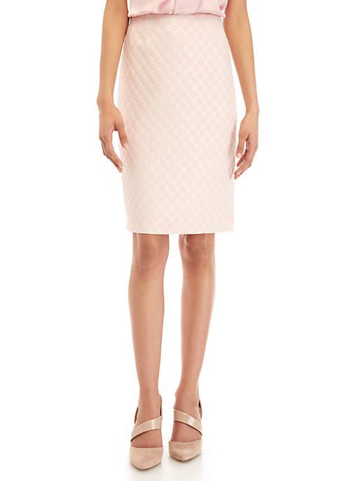 Petite Dot Jacquard Skirt