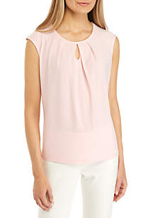 Kasper Solid Cami with Keyhole