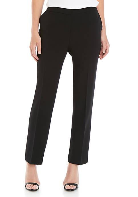 Crepe Pants with Elastic Back