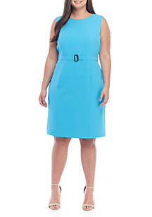 1ff88fc2b9e1 Kasper Plus Size Solid Pencil Skirt · Kasper Plus Size Crepe Belted Waist  Dress