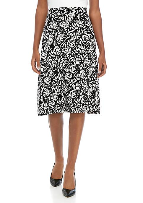 Petite Sunburst Print Skirt