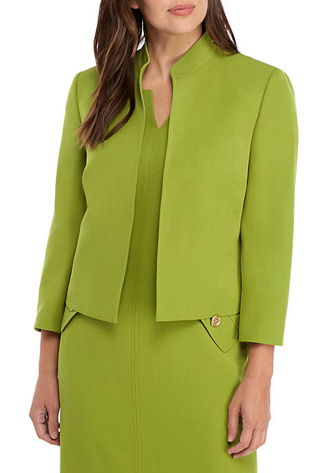 Stand Up Collar Open Jacket