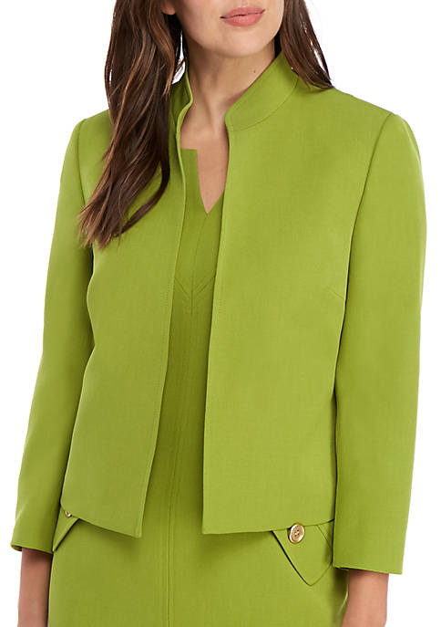 Petite Stand Up Collar Open Jacket