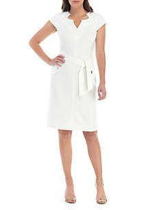Kasper Textured Crepe Dress