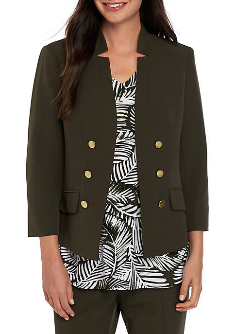 Button Open Front Jacket