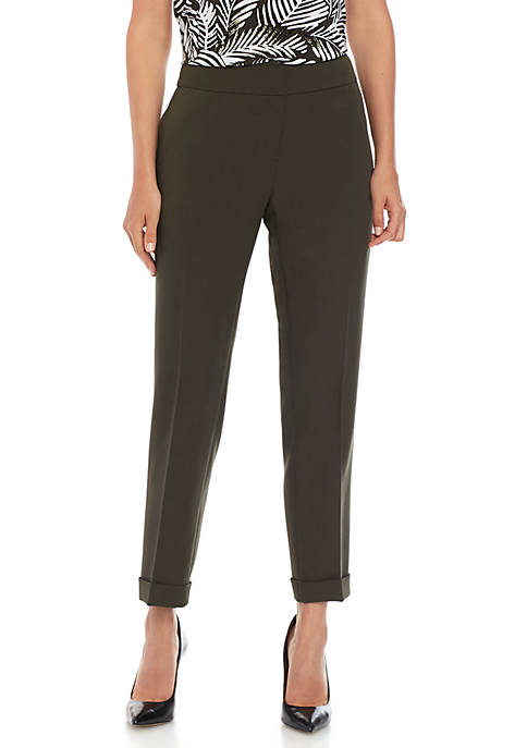 Petite Cuffed Ankle Pants