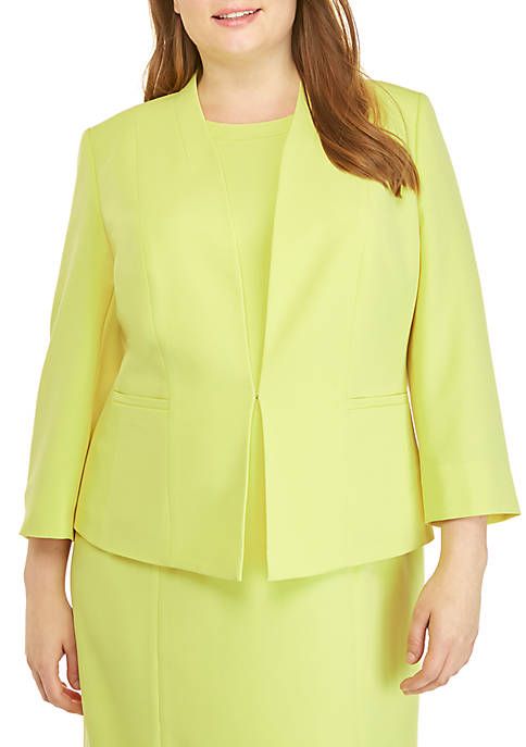 Kasper Plus Size Crepe Open Jacket