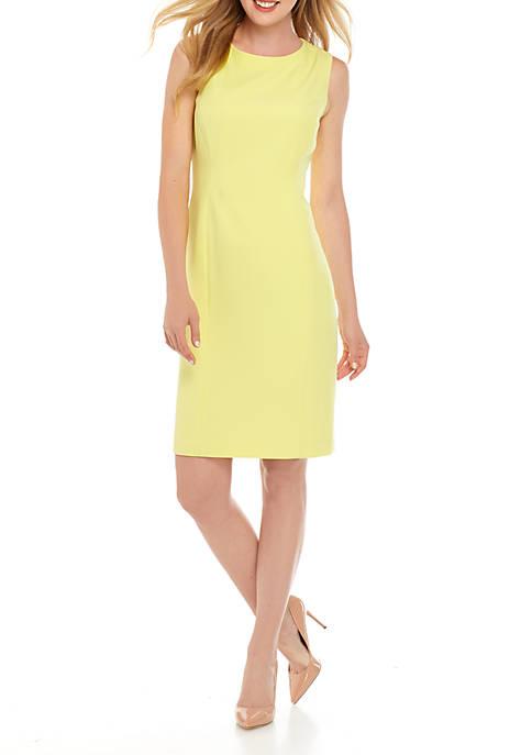 Sleeveless Round Neck Dress