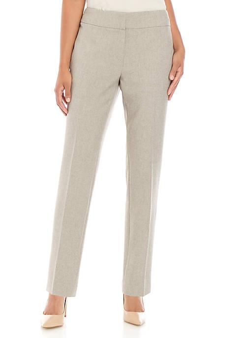 Kasper Petite Slim Melange Pants