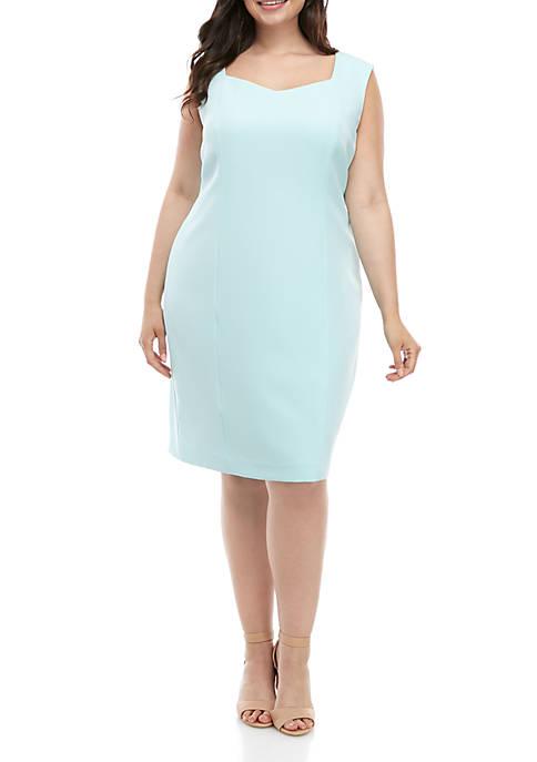 Plus Size Crepe Cap Sleeve Dress