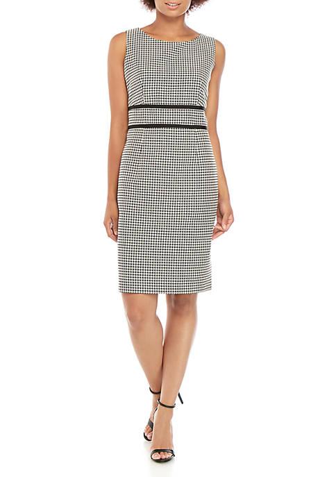 Sleeveless Geo Print Jacquard Dress